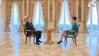 """President Ilham Aliyev was interviewed by """"Russia-24"""" news channel"""