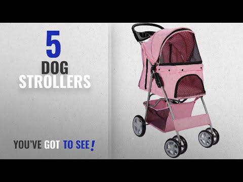 Top 10 Dog Strollers [2018 Best Sellers]: OxGord Pet Stroller Cat/Dog Easy Walk Folding Travel