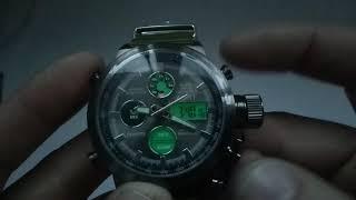 Армійські годинник АМСТ AMST 3003 оригінал інструкція російською, налаштування, відгуки, ціна, купити