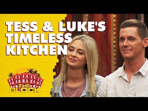 Tess And Luke's Kitchen Revealed | The Block 2019