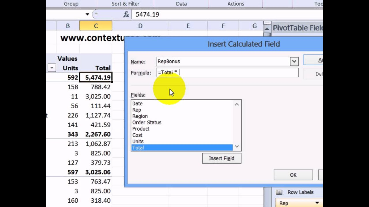 also create  calculated field in excel pivot table youtube rh