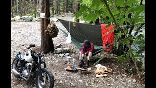 キャンプに行けなかった理由と秋のバイクミニマムソロキャンプ  Broken Motorcycle  Part28  Solo Camping Minimum E