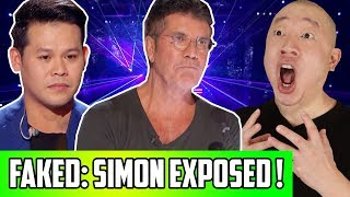 Proof America's Got Talent Is Fake! Simon Cowell Reaction Edited During Marcelito AGT Champions Act