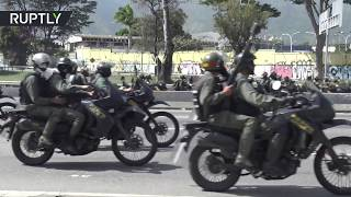 RAW: Motorbike police deployed to battle anti-Maduro protesters in Caracas