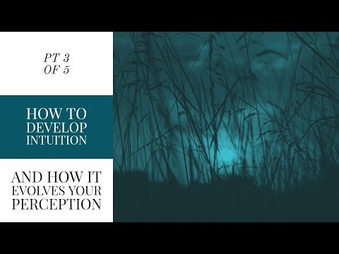 HOW TO DEVELOP INTUITION AND HOW IT EVOLVES YOUR PERCEPTION | Part 3 of 5 Intuitive Video Series