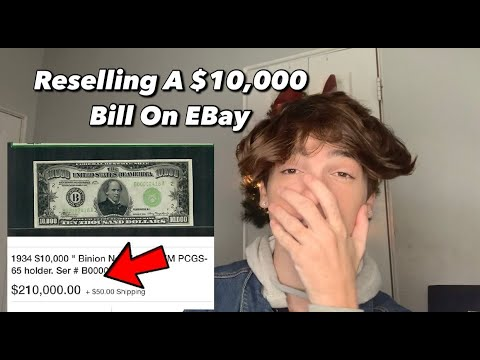 Reselling A $10,000 Bill On EBay! History On The US Dollar | How Much Is It Worth?