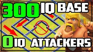 300IQ BASE - ZERO IQ Attackers! Clash of Clans Legend League