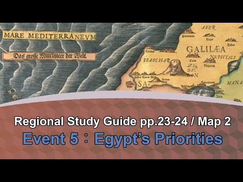 "Event 5 Egypt's Priorities - Equiptoserve ""Regional Study Guide"" Map #2 Marking Assignment"