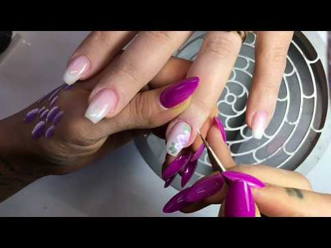 Baby Boomer Manicure One Stroke Rose Get Nails смотреть видео онлайн