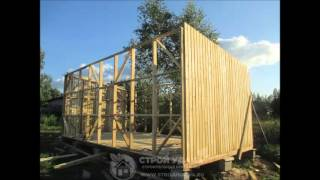 видео Как построить сарай на даче своими руками 3 х 6 с односкатной крышей: чертеж, фото,