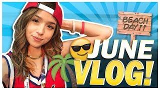 POKI FORTNITE COSPLAY @E3 + BEACH DAY - June Vlog!