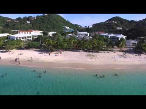Drone on Grand Anse Beach Grenada