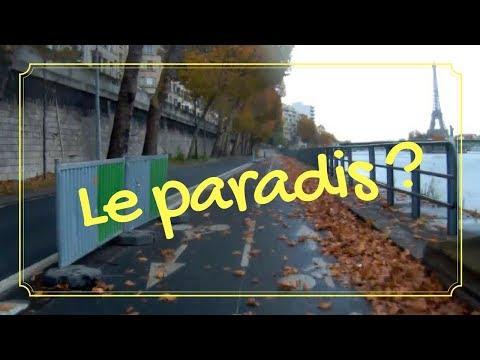 La piste cyclable de la voie Pompidou à Paris