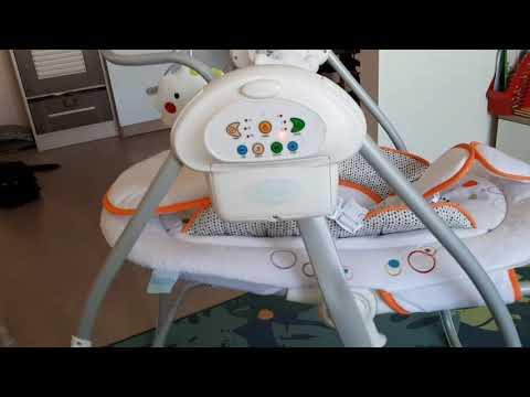 Электрокачели для новорожденных Nuovita Migliore, наклон спинки