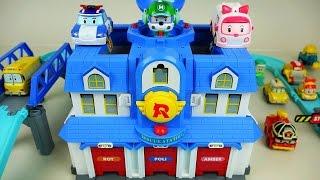 Poli car toys - Robocar Poli Rescue station playset & Tayo bus toy - ToyPudding ?????