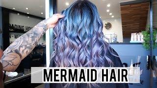Mermaid Hair Colour Transformation 🧜♀️ Packing for Japan