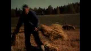 Bonden Sven Jansson hårda arbete på Gåsevål 1982.Film av Wilfried Hofmann