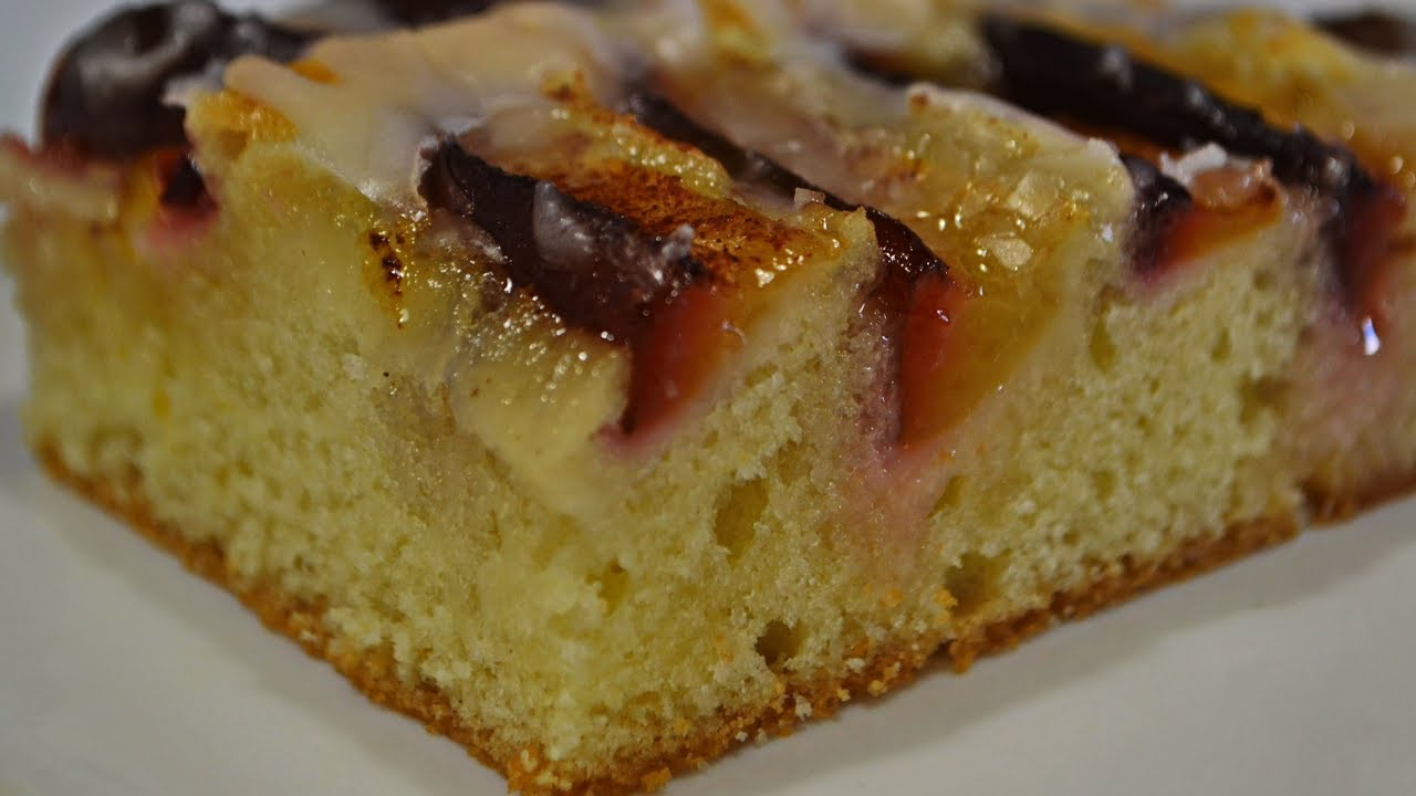 Сливовый Пирог с Сахарной Глазурью | Тает Во Рту!! Plum Pie