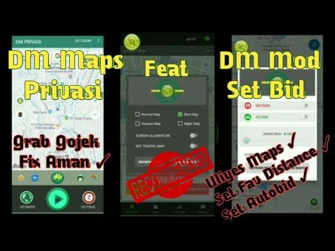 DM Maps Privasi feat DM MOD Gojek by TRK for Drivers Online