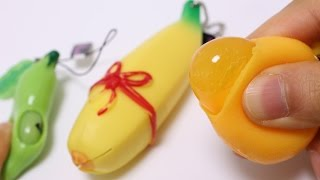Weird Squishy Squeeze Toys ~ そら豆 みかん バナナ スクイーズ