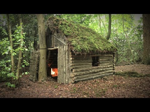 Log Cabin in the Forest - Cruck Frame Shelter (Overnight Camp)