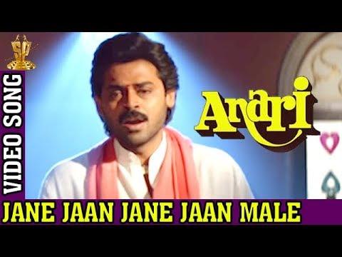 Jane Jaan Jane Jaan Video Song | Male Version | Anari Video Songs | Venkatesh | Karishma Kapoor