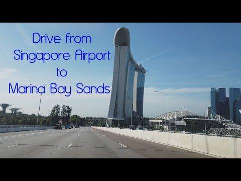 4k - DJI Pocket - Drive From Singapore Airport To Marina Bay Sands
