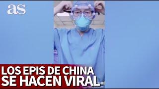 El vídeo del EPI chino que se está haciendo viral en España: es mejor no comparar... |Diario As