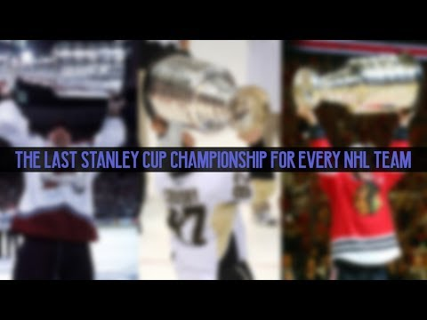 The Last Stanley Cup Championship for Every NHL Team