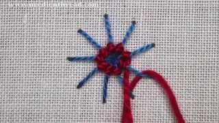 Ribbed Spider Web Stitch