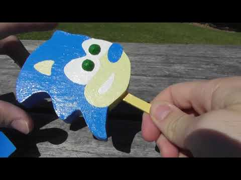 3D Printed Sonic Gumball Popsicle
