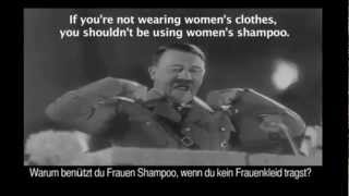 Adolf HITLER Shampoo Commercial for Biomen