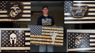 HOW TO CARVE ALMOST ANYTHING INTO A WOODEN FLAG (LOGO, EMBLEM, PICTURE, DESIGN) STEP BY STEP