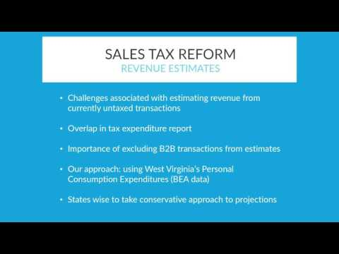 Tax Reform Committee Hears Options for Consumer Sales Tax Base Broadening/Rate Reduction