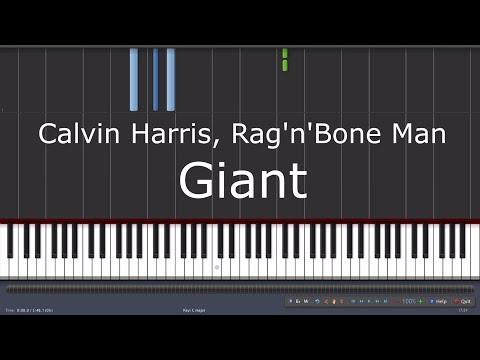 Calvin Harris  & Rag'n'Bone Man - Giant - Piano Tutorial