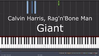 Baixar Calvin Harris & Rag'n'Bone Man - Giant - Piano Tutorial