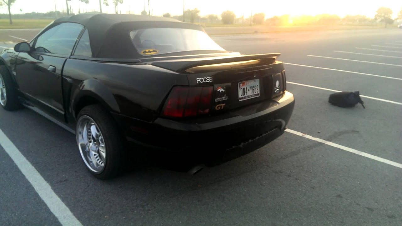 2000 Mustang GT Convertible Black Beauty  YouTube