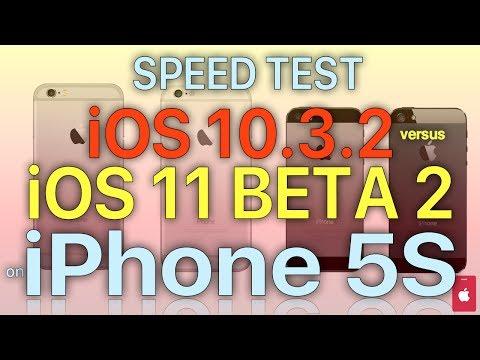 iPhone 5S - iOS 11 Beta 2 Speed Test : iOS 10.3.2 vs iOS 11 Beta 2 (Build # 15A5304i)