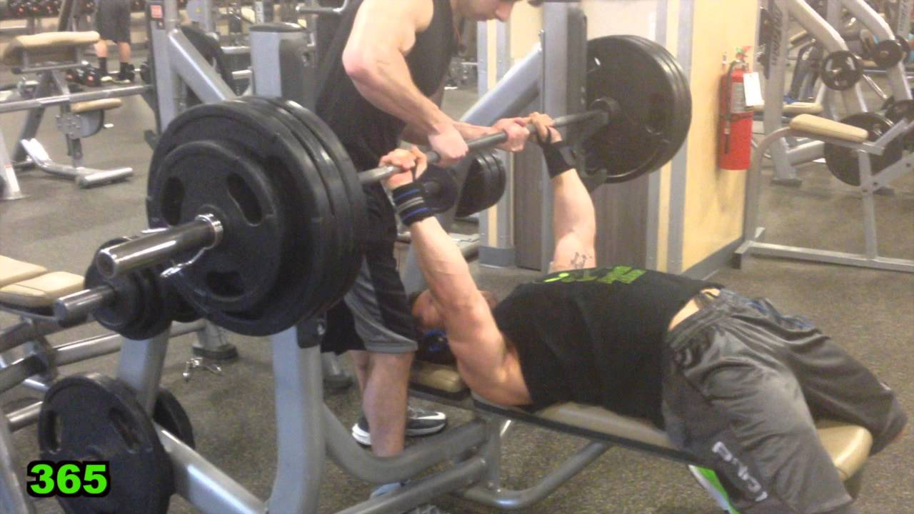 365 Lb Bench Press Pr Mike Rosa 19 Years Old 180 Lbs
