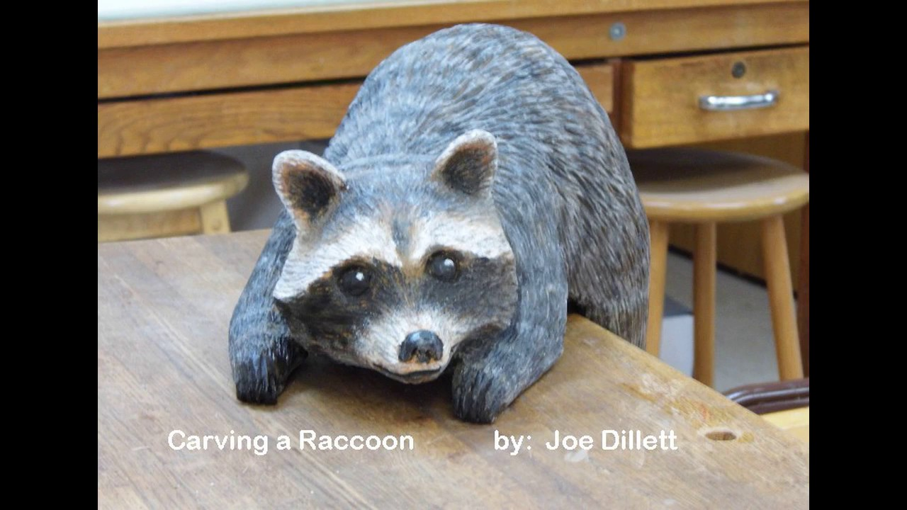Raccoon woodcarving 15 inches youtube