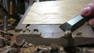 Paring Chisel Demo: Mitered Joint by Hand