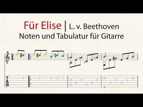 Für Elise | Noten und Tabulatur für Gitarre