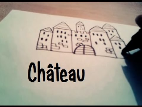 Dessiner un chateau fort youtube - Chateau fort facile a dessiner ...