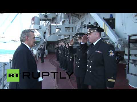 Cyprus: Russian missile cruiser Pyotr Veliky docks at Limassol