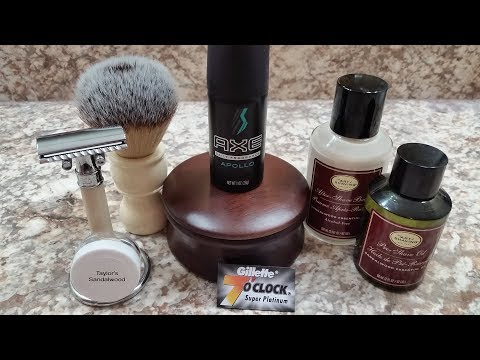 TOBS Sandalwood, AXE, Edwin Jagger With 7 O'clock And Art Of Shaving