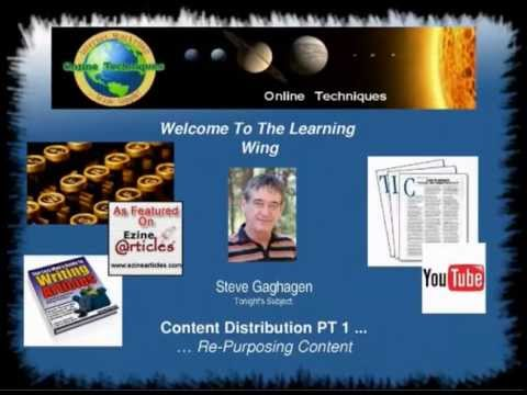Internet Marketing Training - Content Distribution Pt 1