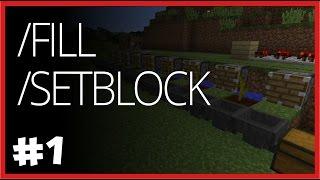 /fill ve /setblock - Minecraft Komut Kullanımı - Bölüm 1