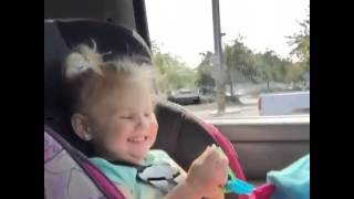 Sweet little girl saying OH MY GOSH