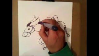 como dibujar un burro | como dibujar un burro paso a paso