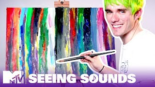 Waterparks' Awsten Can 'See' Music, So We Had Him Paint His Songs 🎨 Seeing Sounds   MTV